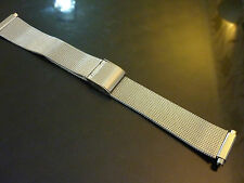 MEN'S STAINLESS STEEL ADJUSTABLE  WATCH STRAP 16-22mm LUGS      LOT 2