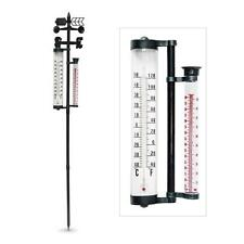 Outdoor Garden Weather Station Thermometer Weather Wind Vane and Rain Gauge