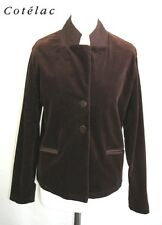 COTELAC - JACKET COTTON BROWN VELVET TAILLE 38 - VERY GOOD CONDITION