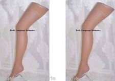 Lot 2 pair NUDE sheer STOCKINGS PLUS SIZE LINGERIE XL-1X-2X