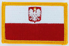 PATCH ECUSSON BRODE DRAPEAU POLOGNE AIGLE  THERMOCOLLANT INSIGNE NEUF FLAG