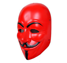 Nice Durable Fiber Resin Mesh Eye Airsoft CS Protection V for Vendetta Red Mask