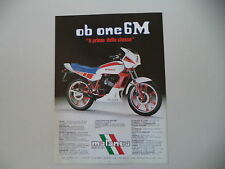 advertising Pubblicità 1984 MOTO MALANCA 125 OB ONE