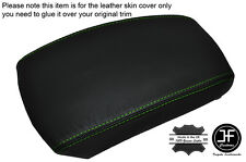GREEN STITCHING LEATHER SKIN ARMREST SKIN COVER FITS KIA SPORTAGE 2004-2010