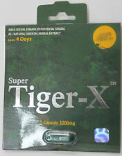 Super Tiger - X / 3 Pills / Male Sex Enhancer Supplement / Super Tiger