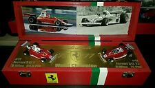 Niki Lauda F1 World Champion Box  1975  1977 Ferrari 312T+T2 UNIKAT 1:43 #11 #12