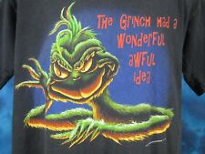 vintage 90s DR. SEUSS HOW THE GRINCH STOLE CHRISTMAS T-Shirt LARGE/XL cartoon tv