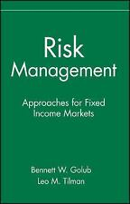 Risk Management: Approaches for Fixed Income Markets-ExLibrary