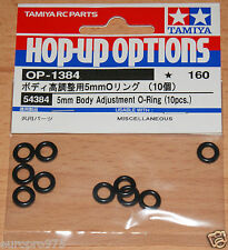 Tamiya 54384 5mm Body Adjustment O-Ring (10 Pcs.) (TT01/TT02/TRF418/TRF419), NIP