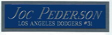 JOC PEDERSON  NAMEPLATE FOR AUTOGRAPHED Signed Baseball Display CUBE CASE