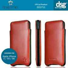 Issentiel Paris Elegance- Genuine Leather Red Pouch Case for iPhone 5S 5C 5 SE