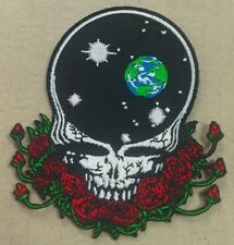 GRATEFUL DEAD SPACE YOUR FACE EMBROIDERED PATCH 4 INCHES X 4 INCHES