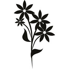 "Random Flowers  Vinyl Decal ""Sticker"" For Car or Truck Windows, Laptops, etc"