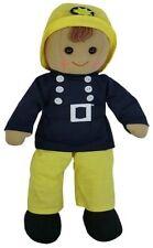 Powell Artigianato Bambola Di Pezza Vigile del fuoco Retrò per bambini e bambine