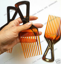 Afro Hair Comb TT Shell Wide Long Tooth Comb Professional Flexible Duralon UK
