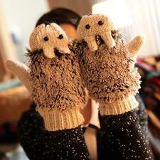Autumn Winter Ladies Gloves Women Mittens Cartoon Knitted Hedgehog Glove Xmas