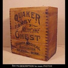 Antique Country Store Advertising Display Quaker Family Medicine Chest