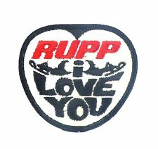 "Vintage RUPP Snowmobile Embroidered Sew On Patch ""RUPP i LOVE YOU"""