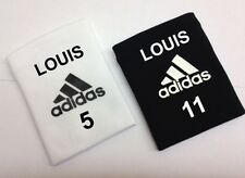 PERSONALISED SHIN PAD STAYS GUARD HOLDERS ADIDAS SALE FREE POSTAGE