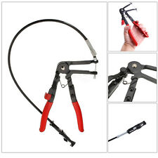 Flexible Wire Long Reach Hose Clamp Plier Car Fuel Oil Water Pipe Repairing Tool