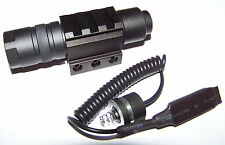 LED Flashlight + Cord Switch + Ring Mount Fits Mossberg Tactical .22 715t Rifle