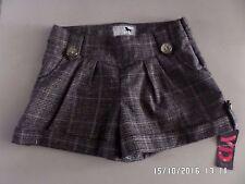 NUOVO con etichetta YD Ragazze Pantaloncini di tweed marrone 7 - 8 anni