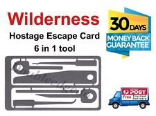 USA Wilderness Survival  - Hostage Escape Card 6 In 1 Tool *AU  STOCK*