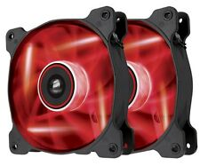 Corsair SP120 Red LED High Pressure 12cm 120mm PC Case Fan Twin Pack CO-9050029