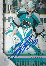 DIMITRI PATZOLD SHARKS AUTOGRAPH AUTO 05-06 UPPER DECK YOUNG GUNS #465 *22099