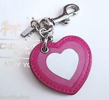 Coach Love Heart Valentine's Day Key Chain Fob Charm Keychain NEW