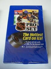 NHL Pro Set Full Box Of Trading Cards 15 Cards Per Pack 1990 SEALED