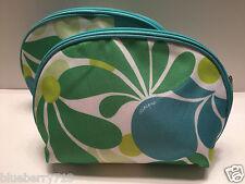 Lot de 2: CLINIQUE Floral Vert en multicolore Cosmétique Maquillage Bag