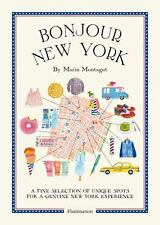 Bonjour New York by Marin Montagut (2015, Paperback) MAP OF FUN TIMES NY