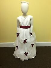 Flower girl dress including accessories