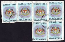 MALAYSIA 1990 50c Hasil(Revenue) Isc#R11 x6- Used on piece @J512