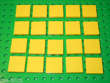 Lego Yellow Flat Tile 2x2 20 pieces NEW!!!