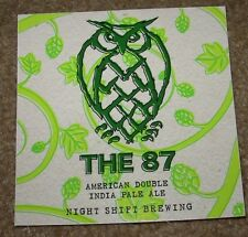NIGHT SHIFT BREWING nightshift The 87 STICKER decal craft beer brewery