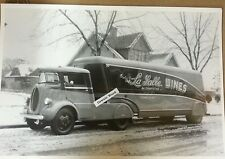 "12 By 18"" Black & White Picture Ford Special streamline cabover LaSalle Wines"