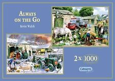 Gibsons Always on the Go by Kevin Walsh 2 x 1000 piece nostalgic jigsaw puzzles