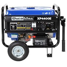 DuroMax XP4400E 4400 Watt 4-Cycle Gas Powered Portable Generator Electric Start
