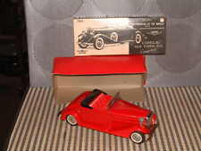 BANDAI FRICTION TIN 1933 CADILLAC AUTOMOBILES OF THE WORLD SERIES W/BOX IN RED!
