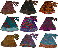 Pack of 5 Womens Small Size Vintage Wrap Around Sari Skirts