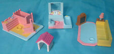 Vintage My Pretty Dollhouse 3 Rooms & Dog House 1994 Galoob - Fits Polly Pocket