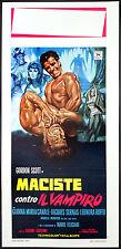 CINEMA-locandina MACISTE CONTRO IL VAMPIRO gordon scott, canale, G. GENTILOMO