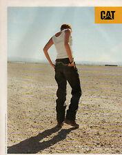 Publicité 1998  CAT CATERPILLAR chaussure vetement  jean 5 poches