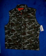 MENS OUTDOOR LIFE GREEN CAMO FISHING HUNTING VEST POCKETS JACKET SIZE LARGE NWT