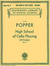 David Popper High School de violonchelo jugando Opus. 73 Aprende A Tocar La Música Libro