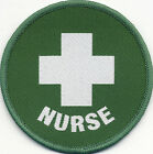 Nurse Woven Badge Patch Circle 71mm Diameter UK Manufactured