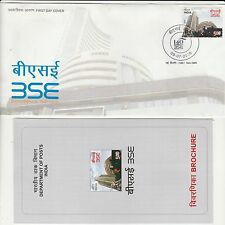INDIA 2016 FDC OF BSE SHARE AND STOCK WITH FOLDER FIRST DAY COVER