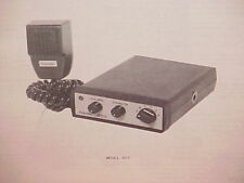 1977 HANDIC CB RADIO SERVICE SHOP MANUAL MODEL 605